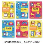 device store concept. thin line ... | Shutterstock .eps vector #632442200
