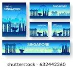 set of singapore landscape... | Shutterstock .eps vector #632442260