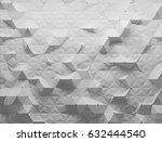white polygonal triangle... | Shutterstock . vector #632444540