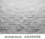 white polygonal triangle... | Shutterstock . vector #632444558