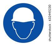 use head protection  helmet  | Shutterstock .eps vector #632445230