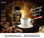 instant arabica coffee ad ... | Shutterstock . vector #632446520