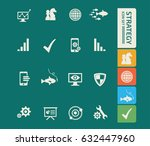 strategy icon set clean vector | Shutterstock .eps vector #632447960