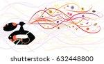 vector illustration of bottled... | Shutterstock .eps vector #632448800