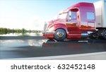 semi trailer  truck on the road ... | Shutterstock . vector #632452148