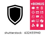 shield  protection icon | Shutterstock .eps vector #632455940