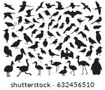 Stock vector  bird silhouette vector illustration 632456510