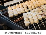 roasted banana or grilled... | Shutterstock . vector #632456768