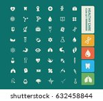 health care icon set clean... | Shutterstock .eps vector #632458844