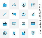 business colorful icons set.... | Shutterstock .eps vector #632459618
