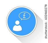 economy speech button icon... | Shutterstock . vector #632460278