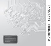 circuit board vector gray... | Shutterstock .eps vector #632470724
