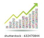 growth chart and progress... | Shutterstock .eps vector #632470844