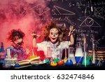 funny little children doing... | Shutterstock . vector #632474846