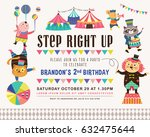 kids birthday party invitation... | Shutterstock .eps vector #632475644