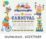 kids birthday party invitation... | Shutterstock .eps vector #632475689