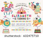 kids birthday party invitation... | Shutterstock .eps vector #632475710