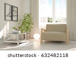 white room with armchair and... | Shutterstock . vector #632482118