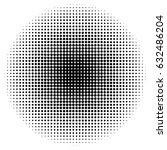 dots half tone pattern... | Shutterstock .eps vector #632486204