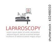 laparoscopy sign. vector... | Shutterstock .eps vector #632488310