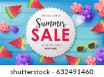 summer sale background layout... | Shutterstock .eps vector #632491460
