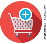 add to cart vector icon | Shutterstock .eps vector #632493494