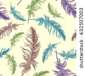 seamless pattern with a... | Shutterstock . vector #632507003