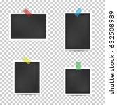 empty retro photo frames.... | Shutterstock .eps vector #632508989
