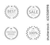 laurel wreath icons. best... | Shutterstock .eps vector #632508998