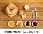 crispy rolls with butter  apple ... | Shutterstock . vector #632509478