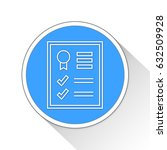data seo report button icon... | Shutterstock . vector #632509928