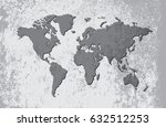 grunge map of the world.vintage ... | Shutterstock .eps vector #632512253