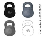 a large metal weight of 16 kg....   Shutterstock .eps vector #632520650