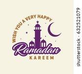 wish you a very happy ramadan... | Shutterstock .eps vector #632521079