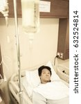 Small photo of Patient Lung infection & admit in hospital with iv saline