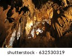 rock formations inside the cave ... | Shutterstock . vector #632530319