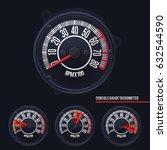 speedometer console gauge...   Shutterstock .eps vector #632544590