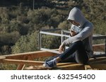 teenager with mobile phone... | Shutterstock . vector #632545400