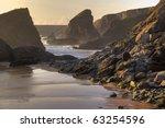 Cornish Beach At Sunset ...