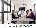 boss dresed as teddy bear... | Shutterstock . vector #632548079