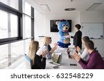 boss dresed as teddy bear... | Shutterstock . vector #632548229