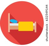 bed vector icon | Shutterstock .eps vector #632549144