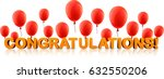 orange congratulations 3d... | Shutterstock .eps vector #632550206