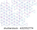 vector abstract boxes... | Shutterstock .eps vector #632552774