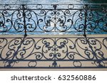 Old Wrought Iron Railing On A...