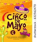 illustration of cinco de mayo... | Shutterstock .eps vector #632562470