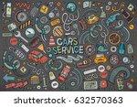 vector hand drawn doodle... | Shutterstock .eps vector #632570363