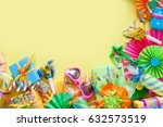 gifts  garland  festive decor... | Shutterstock . vector #632573519
