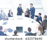 concept of business meetings... | Shutterstock . vector #632578640