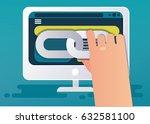 linkbuilding concept. vector... | Shutterstock .eps vector #632581100
